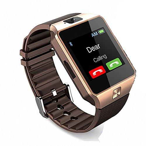Micromax Canvas Juice 2 AQ5001 Compatible Certified Bluetooth Smart Watch DZ M9 Wrist Watch Phone with Camera & SIM Card Support Hot Fashion New Arrival Best Selling Premium Quality Lowest Price with Apps like Facebook, Whatsapp, QQ, WeChat, Twitter, Time Schedule, Read Message or News, Sports, Health, Pedometer, Sedentary Remind & Sleep Monitoring, Better Display, Loud Speaker, Microphone, Touch Screen, Multi-Language, Compatible with Android iOS Mobile Tablet PC iPhone by Sontiga  available at amazon for Rs.1299