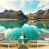 Personnalisé 3D Fonds D'écran HD Paysage Montagnes Lac Lumière Montagne Couleur Simple Grand Murale Salon Salon Fond D'écran papier peint panoramique - 1㎡(1 mètre carré)