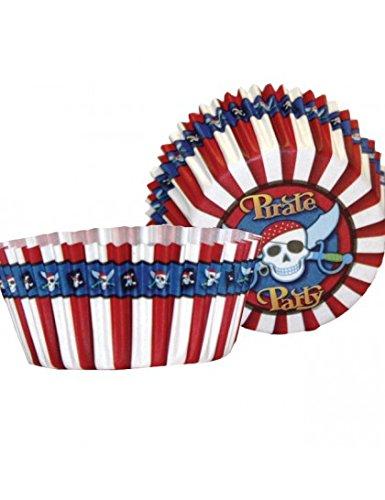 50 Muffinförmchen Pirat