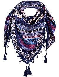 5da1972acbe MRULIC Echarpes foulards femme Treillis Écharpe Automne Hiver Mode Couleur  Chaude Couture Longue Laine À Carreaux