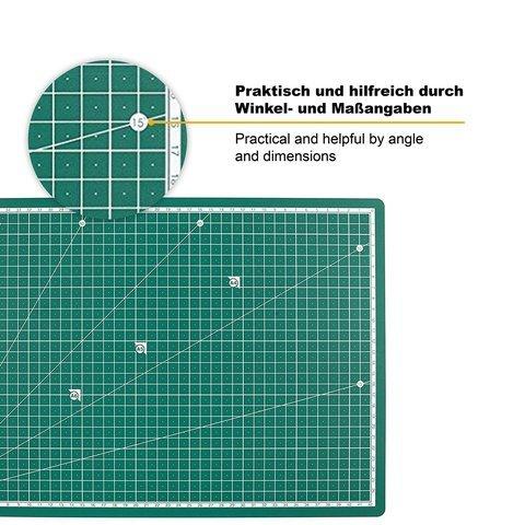 $ PRETEX SC-114 – Cutting Mat – Tappetino da taglio in PVC riciclato in verde con chiusura automatica, superficie, 45 x 30 cm (A3), Verde confronta il prezzo