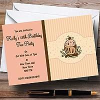 Chocolate cupcake vintage Tea inviti per feste,/invita & buste, 70 Invites & Envelopes