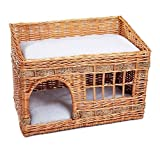 Woven Wicker Cat Den - Pueblo Style - This will Look Fabulous in your Home - A Cosy Nest for Your Cats