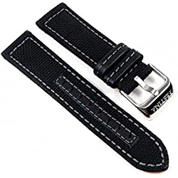 Festina watch strap Textile/futtercuir Band 22mm Watch F16566, Farbe: dark blue