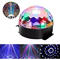 JUDYelc Disco Lights-Crystal Ball Stage Light con RGBW LED Party Show de luces para shows de boda Dance Floor Night Club DJ Flashing (Ver. Mecánico)