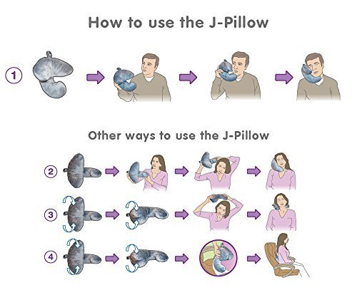 J-pillow, Travel Pillow – Head, Chin & Neck Support – British Invention of the Year 2013 – (Red)