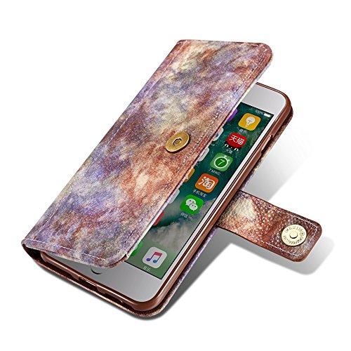 GR Premium PU-Leder horizontale Flip Stand Wallet Case Cover mit Kartensteckplätzen für iPhone 7 Plus / 8 Plus ( Color : Darkgray ) Violet