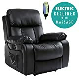 More4Homes (tm) CHESTER ELECTRIC HEATED MASSAGE RECLINER BONDED LEATHER CHAIR SOFA GAMING HOME