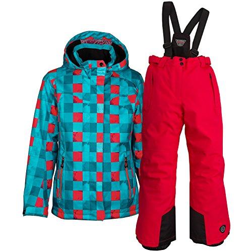 Killtec Kinder Skianzug Winter Skijacke Skihose Set Farb- und Größenwahl (aqua, 116)