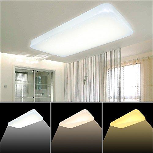 VGO 60W plafón rectangular cambio color LED efecto
