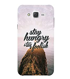 SAMSUNG ON 7 2015 FOOLISH QUOTE PRINTED BACK CASE COVER by SHAIVYA