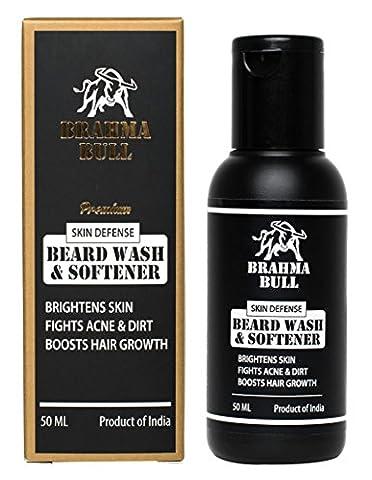 Brahma Bull Premium Skin Defense Lavage et apaisement de la barbe - 1,6 onces