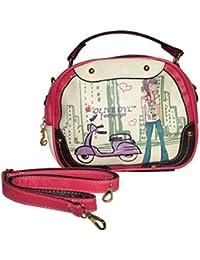 Rahseh Fashion PU Sling Bag/Hand Bag With Stylish Print Design