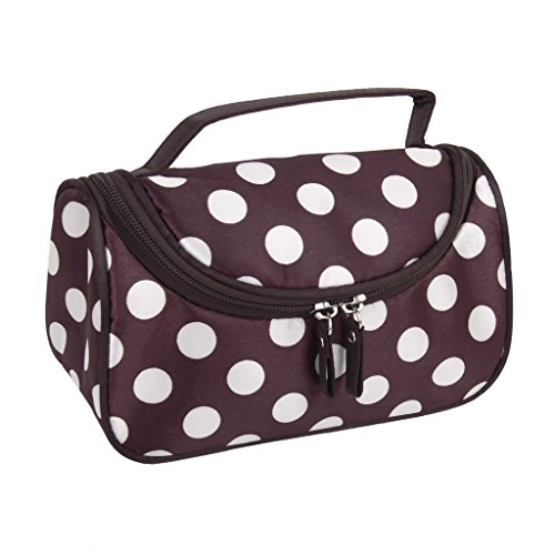 Coffee Ground White dots TOOGOOR Coffee Small White Polka Dot Dual Zipper C
