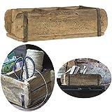 LS-LebenStil Holz Aufbewahrung-Box Ziegelform Unika 3-Fach 31x15x9,5cm Braun