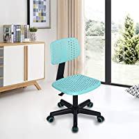 FurnitureR Home Office Task Computer Chairs Hollow Mid Back Swivel Adjustable for Children Kids Study, Turquoise