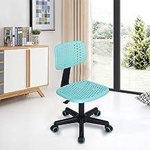 FurnitureR Home Office Silla de Escritorio Respaldo Mediano Giratoria Ajustable Ajustable para Niños Estudio, TURQUESA