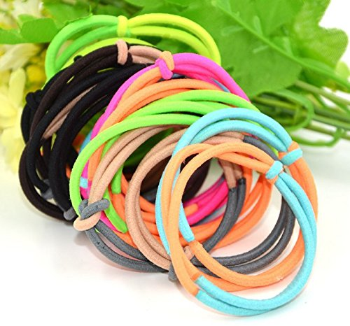 Ponytail Holders (12Pcs) Hair Bands Elastic Bands Ribbon Bands Hair Ties Accessories - Pack of 12 (Model2, Multicolor)  available at amazon for Rs.129