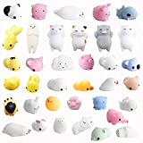 Amaza 36Pcs Squishys Kawaii Anti Stress Tiere Squeeze Katzen Spielzeug Silikon Relief Animal...