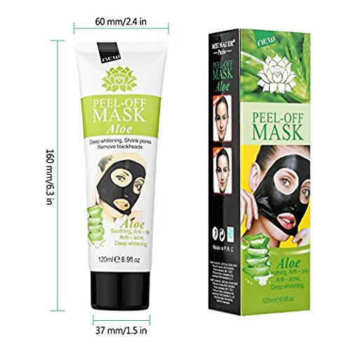 51KYG8Vu5bL - MEINAIER Blackhead Remover Mask,Blackhead Peel Off Mask,Purifying Peel-off Mask Black Mud Pore Removal Strip Mask For Face Nose Acne Treatment (Aloe vera)