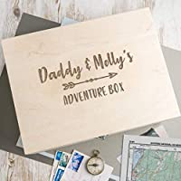 Personalised Daddy Wooden Adventure Box/Personalised Memory Box/Fathers Day Gifts/Daddy Gifts From Daughter or Son/Wooden Keepsake Box