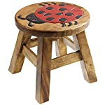 Ap Ladybird Wooden Animal Stool Hand Painted Design Kids Children Stool Seat Chair
