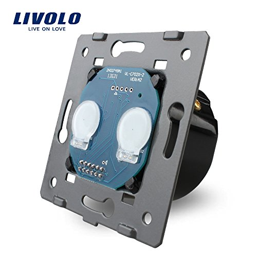 Manufacturer, EU Standard,Livolo AC 110~250V The Base Of Wall Light Touch Screen Switch, 2Gang 1Way, VL-C702 - Wall Base