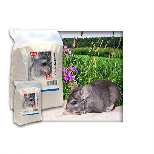 Kieskönig 5 kg Premium Chinchilla Badesand Chinchillasand - Made in Germany - samtweiche abgerundete Körnung
