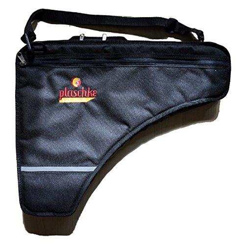 Panflötentasche für Panflöten mit 22-27 Rohre mit Extrafach, Schulterschlaufe, Handschlaufe und Plaschke-Logo