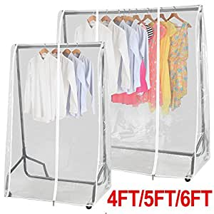 chinkyboo clear transparent clothes rail cover for hanging. Black Bedroom Furniture Sets. Home Design Ideas