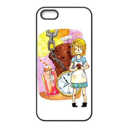 TPU Étui Coque Case Cover Pour iPhone 5 5S, Alice in Wonderland Coque Étui pour iPhone 5S, Soft coque en silicone skin Housse Coque Shell de protection pour iPhone 5 5S