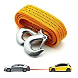 #8: AllExtreme Car Tow Rope Straps with Hooks-5 Tons 4 Meters(13.12ft) High Strength Cable Cord Heavy Duty Recovery Securing Accessories for Cars Trucks