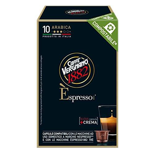 Caffe' vergnano 1882 Èspresso 1882 arabica - 12 confezioni da 10 capsule compatibili nespresso (tot 120 capsule)