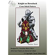 Knight on Horseback Cross Stitch Pattern