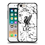 Head Case Designs Offizielle Liverpool Football Club Liver Bird Schwarz 2017/18 Marmor Schocksicher Matt Schwarz Hülle