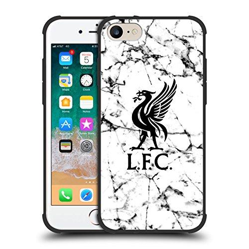 Head Case Designs Offizielle Liverpool Football Club Liver Bird Schwarz 2017/18 Marmor Schocksichere Matt Schwarze Huelle kompatibel mit iPhone 7 / iPhone 8