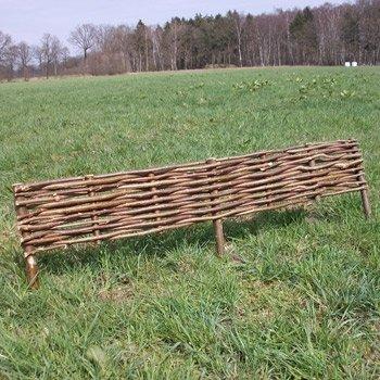 """Beeteinfassung aus Haselnuss """"Willow"""" 1 Stück, 20 cm / mit Füße 40 cm Länge ca. 120 cm von Gartengruen24 bei Du und dein Garten"""