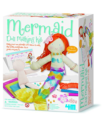 4M - Mermaid Doll Making Kit, muñeca (004M2733)