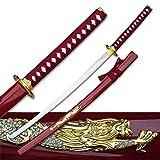 """Samurai-Schwert """"Gold Dragon"""" - rot"""