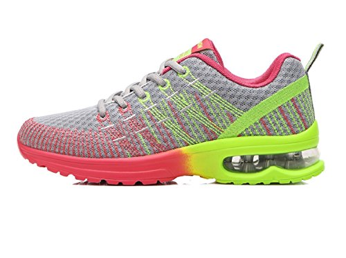Donna Scarpe da Running Sportive Corsa Sneakers Ginnastica Outdoor Multisport Shoes Nero 35