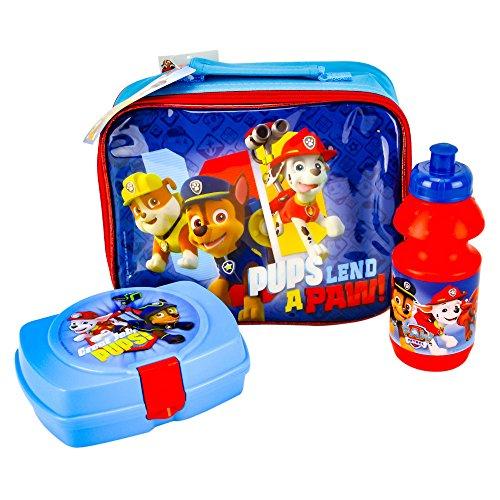 Preisvergleich Produktbild Paw Patrol F101301 - Lunch Set Bag, Sandwich Box und Flasche, 3 Stück, blau