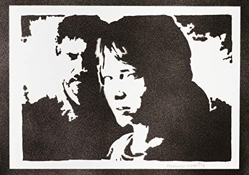 Poster The Last Of Us Ellie E Joel Handmade Graffiti Street Art - Artwork