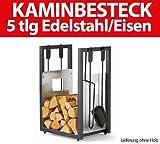 ToniTec Kaminholzwagen Kaminholzkorb Holzwagen Kaminkorb Brennholzwagen