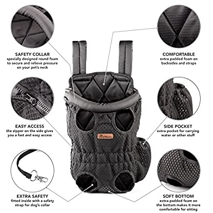 Petmars Pet Backpack Carrier: Dog And Cat Carrying Bag, Front And Back Facing, For Small Medium And Large Sized Breeds… 3