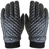 Amison Guanti moto uomo, sport invernali termici PU pelle guanti Touch