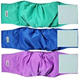 #9: Wegreeco Washable Dog Diapers - Washable Male Dog Belly Wrap- Pack of 3 (Small)
