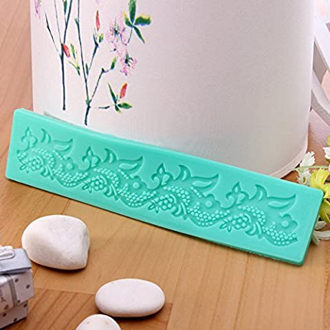 aliciashouse pizzo decorativo muffe fondente zucchero Craft Stampo in silicone