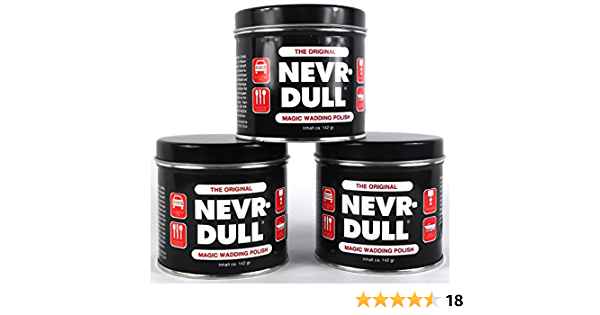 3x Nevr Dull Polierwatte Für Chrom Alu Messing Und Andere Metalle 142 G Auto