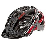 ALPINA Jungen Fahrradhelm Rocky, Black/Red/White, 47-52 cm, 9629036