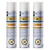 apotier24 Flee TM - 3 Dosen a 400 ml - Umgebungsspray gegen Flöhe, Hausstaubmilben und Allergene - von...